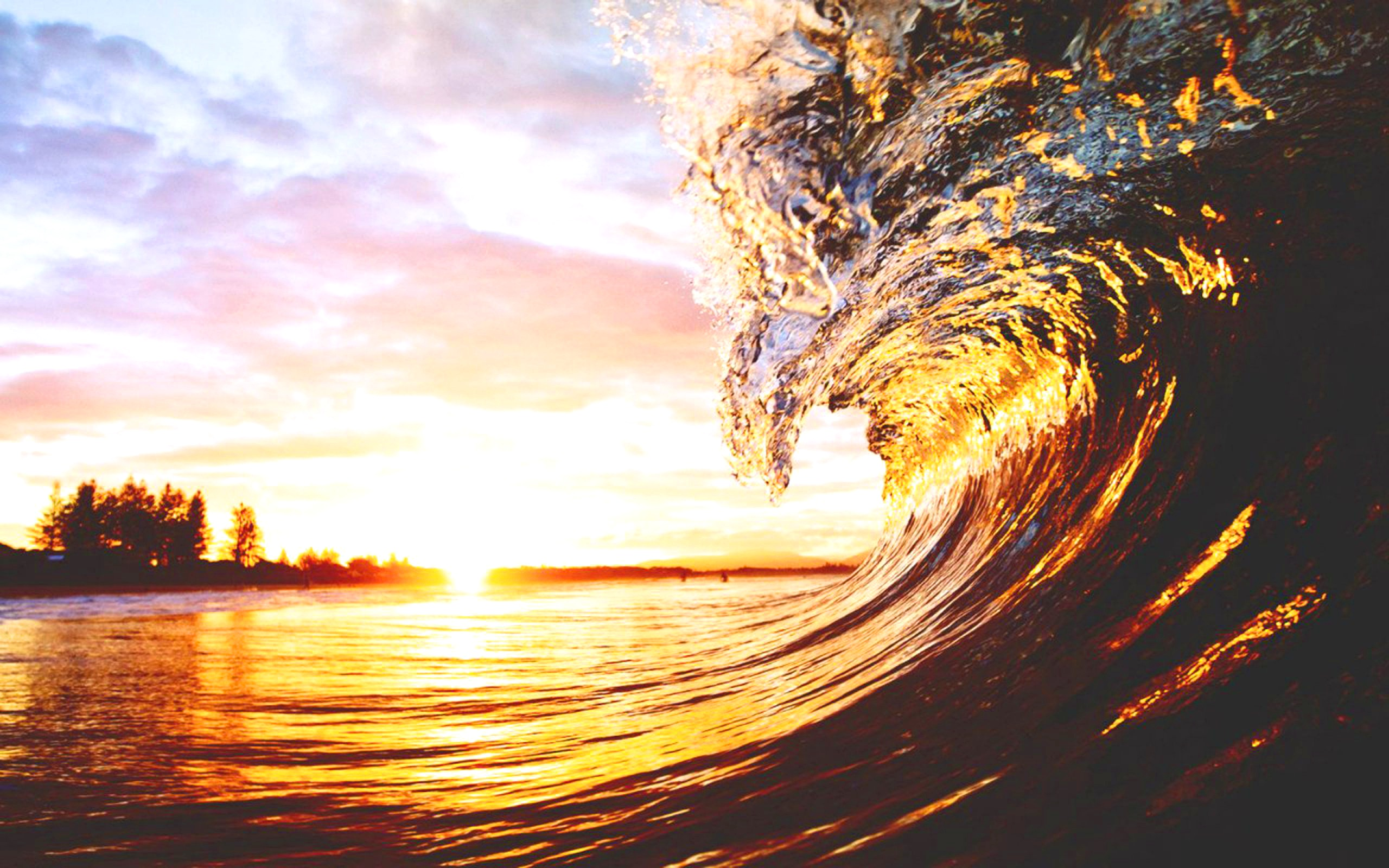 sunset_wave_hd_wallpaper